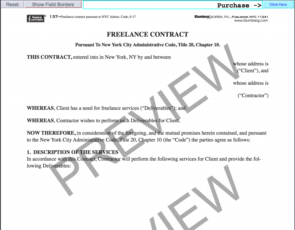 New York Freelance Contract