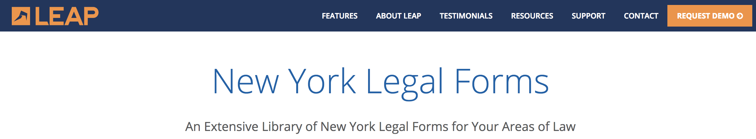 LEAP Announces Integration With The Popular Blumberg Legal Forms - Legal forms for attorneys
